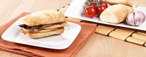 Montadito de Ciabatta con pollo sin gluten de Proceli