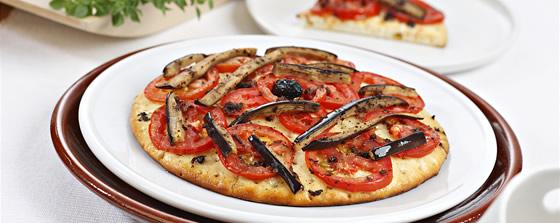 Pizza al estilo provenzal sin gluten de Proceli