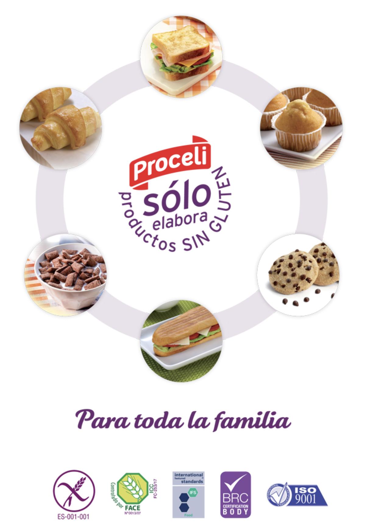 Solo sin gluten con Proceli