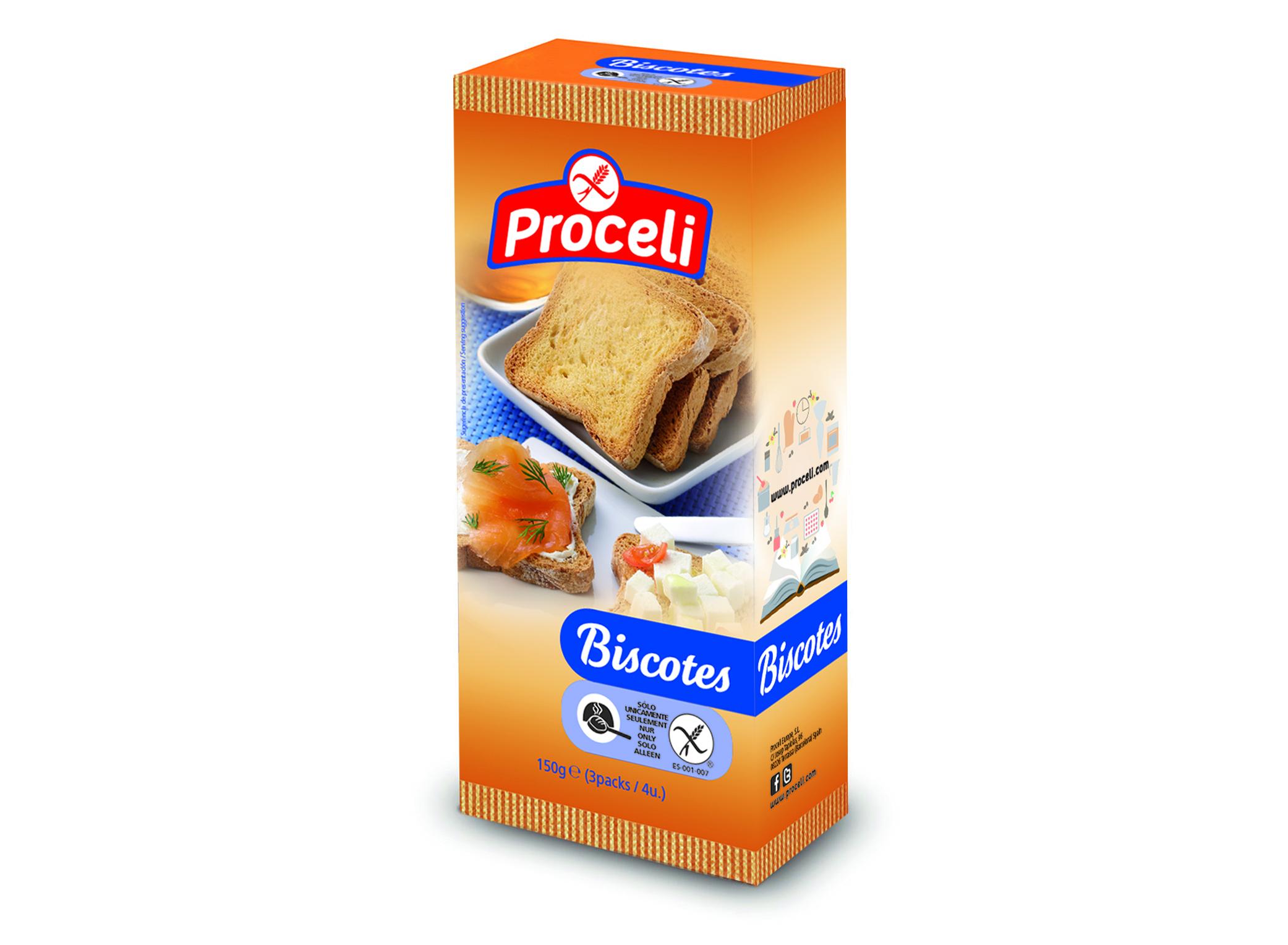 Biscotes gluten-free from Proceli