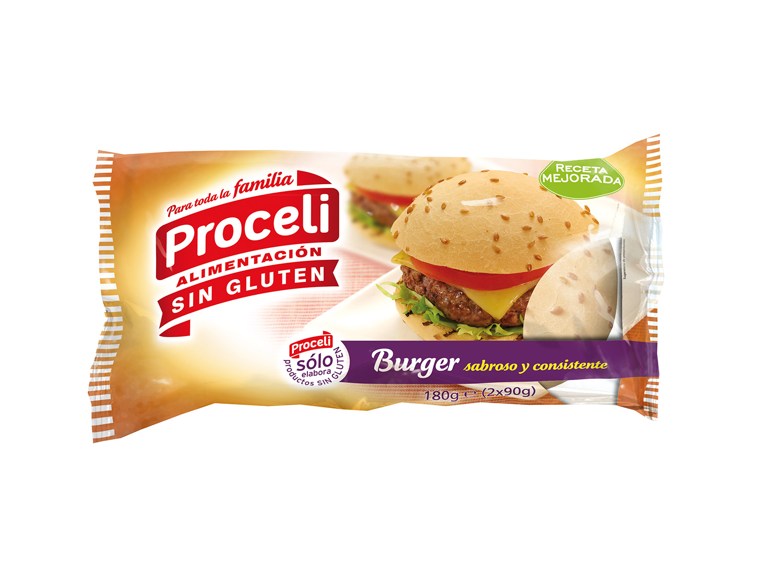 Burger sin gluten de Proceli