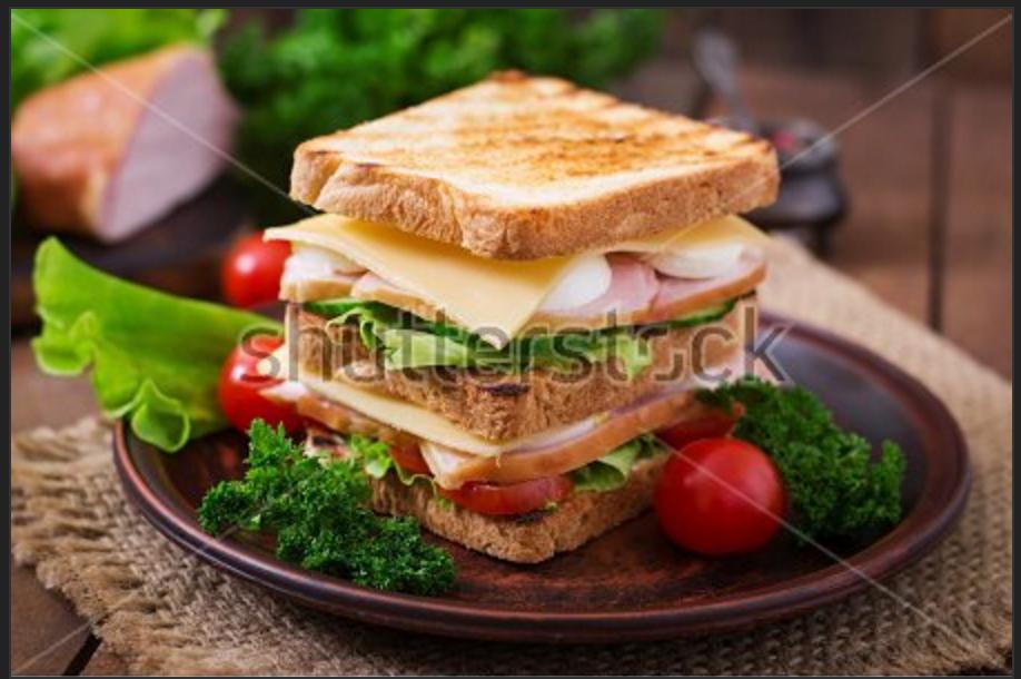 Sandwich dos pisos tostado sin gluten de Proceli