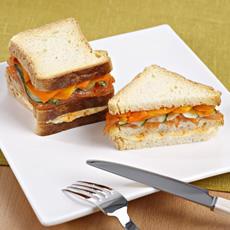 Club sandwich tostado sin gluten de Proceli