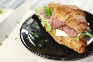 Croissant sándwich sin gluten de Proceli