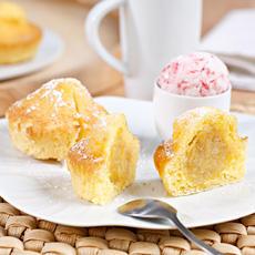 Muffin con mermelada de platano sin gluten de Proceli