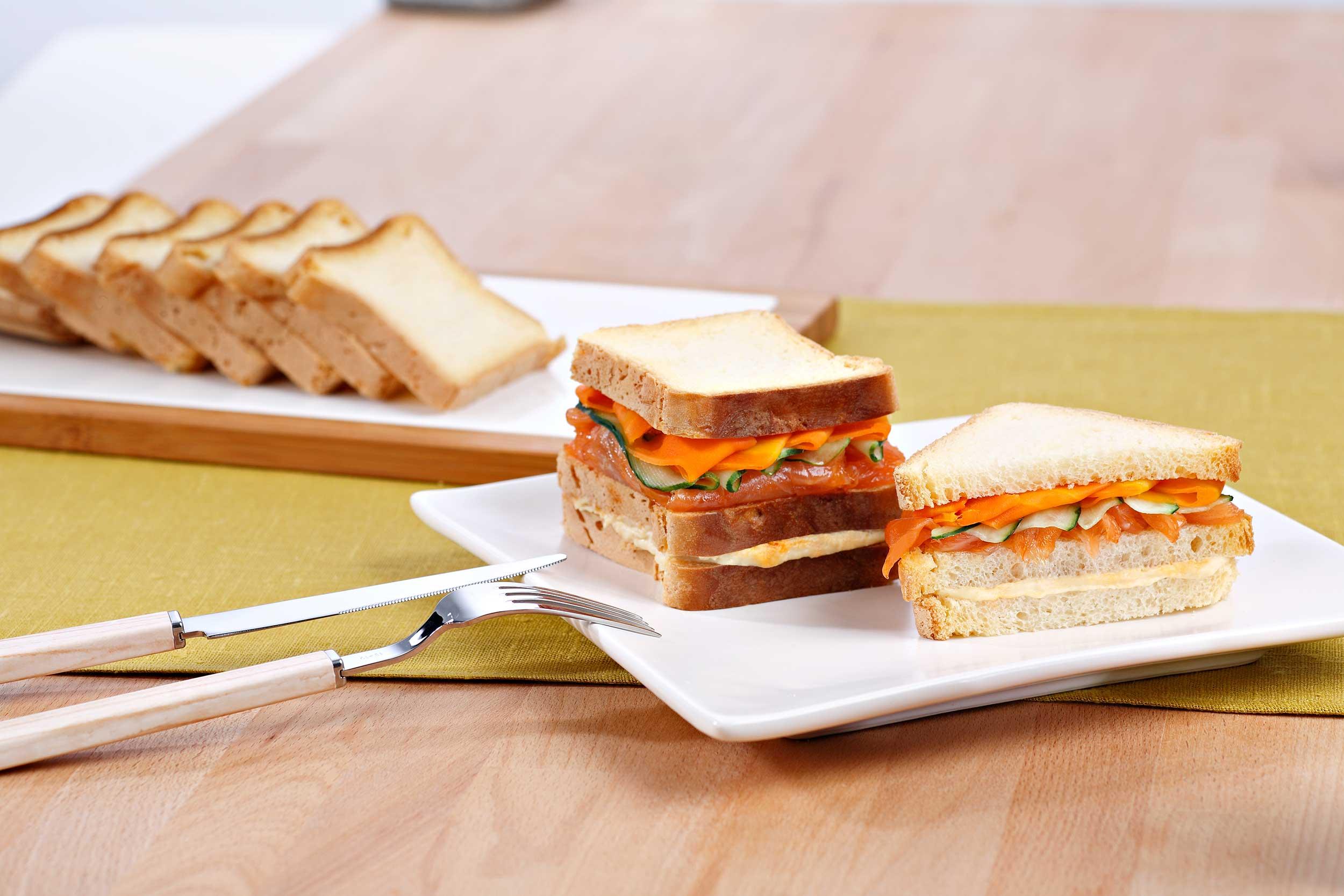 Receta sandwich doble piso sin gluten de Proceli