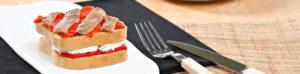 Sandwich con pan de molde sin gluten de Proceli