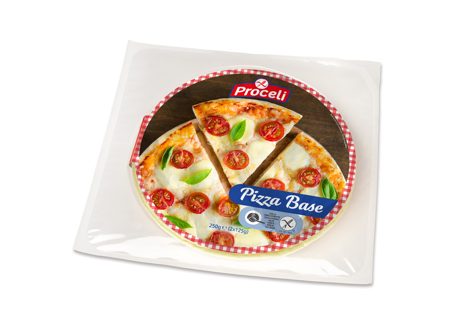 Pack of Pizza-base gluten-free from Proceli