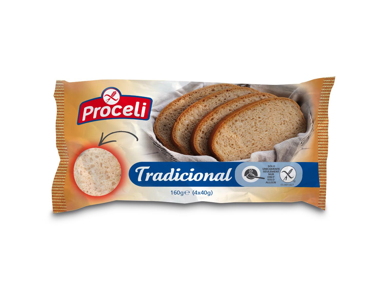 Pan Tradicional sin gluten de Proceli