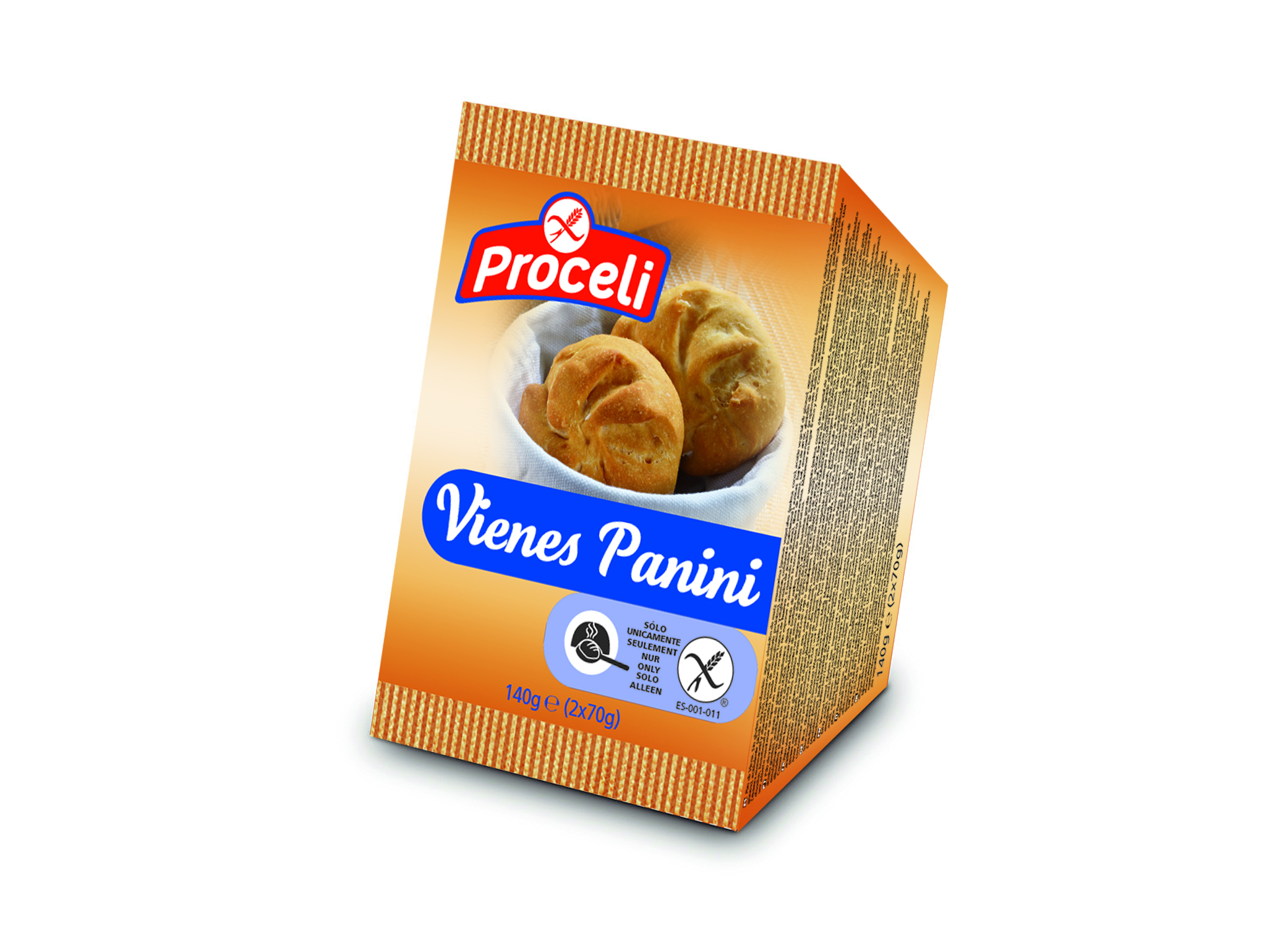 Vienes-Panini gluten-free from Proceli is an ideal bread for sandwiches or to accompany a meal. It needs to be finished off in the oven.