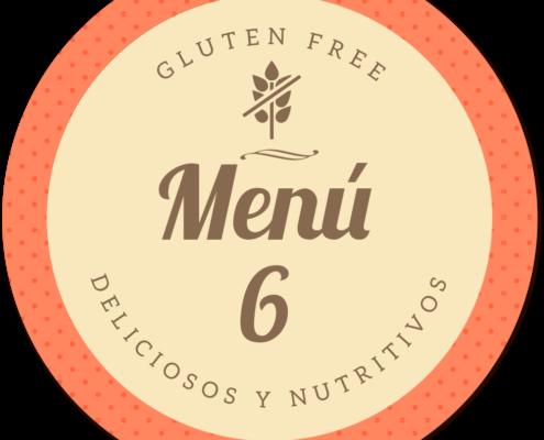 Menu delicioso y nutritivo sin gluten de Proceli