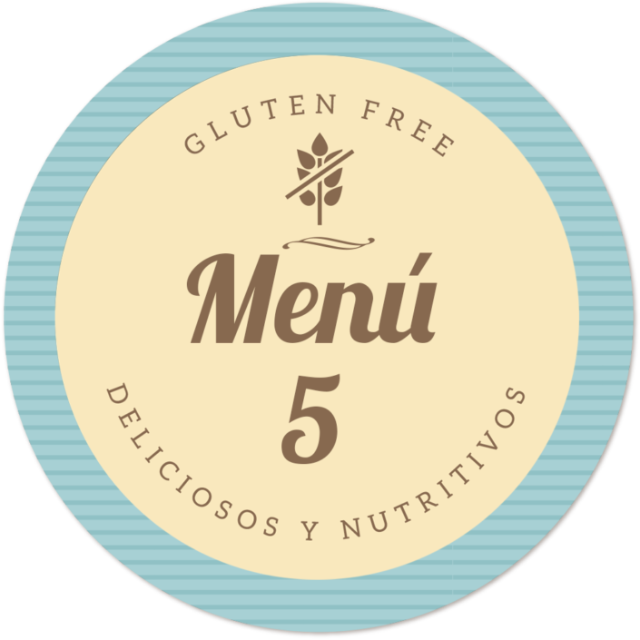 menu sin gluten de Proceli
