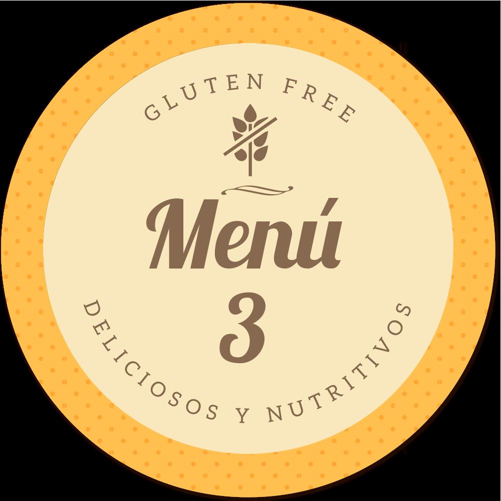 menu sin gluten de Proceli delicioso