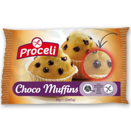 Choco Muffins sin gluten de Proceli