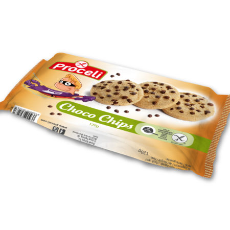 ChocoChips are gluten-free crunchy biscuits with real Belgian chocolate chips for you to enjoy with your family for breakfast, afternoon snack or dessert.