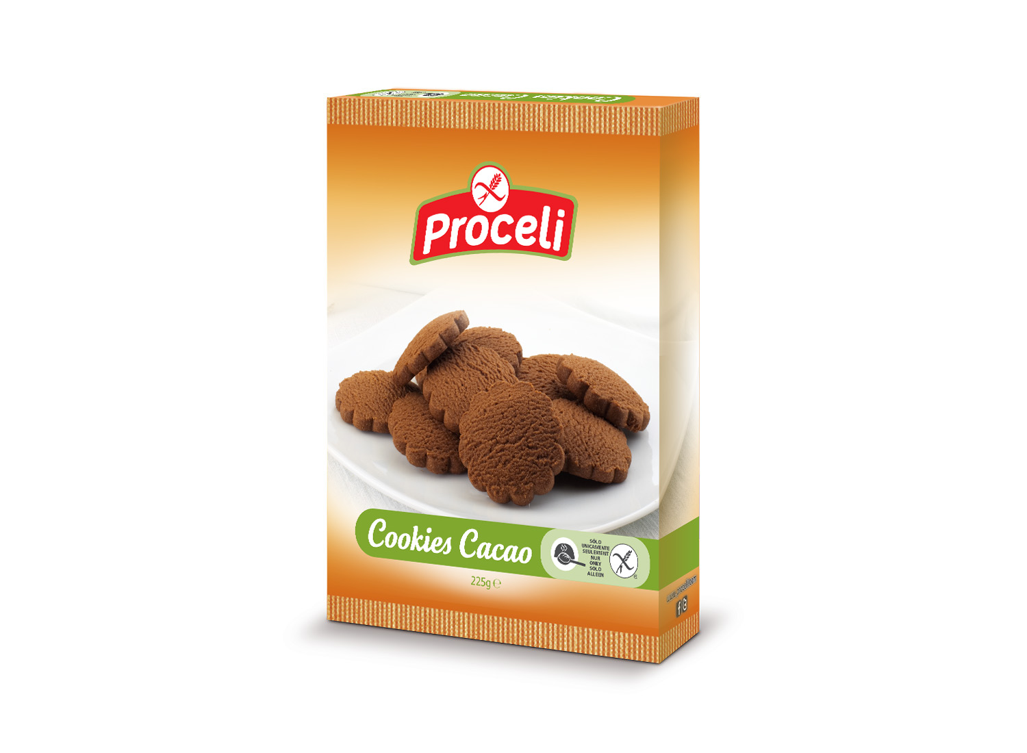 cookies-cacao gluten-free from Proceli -pack