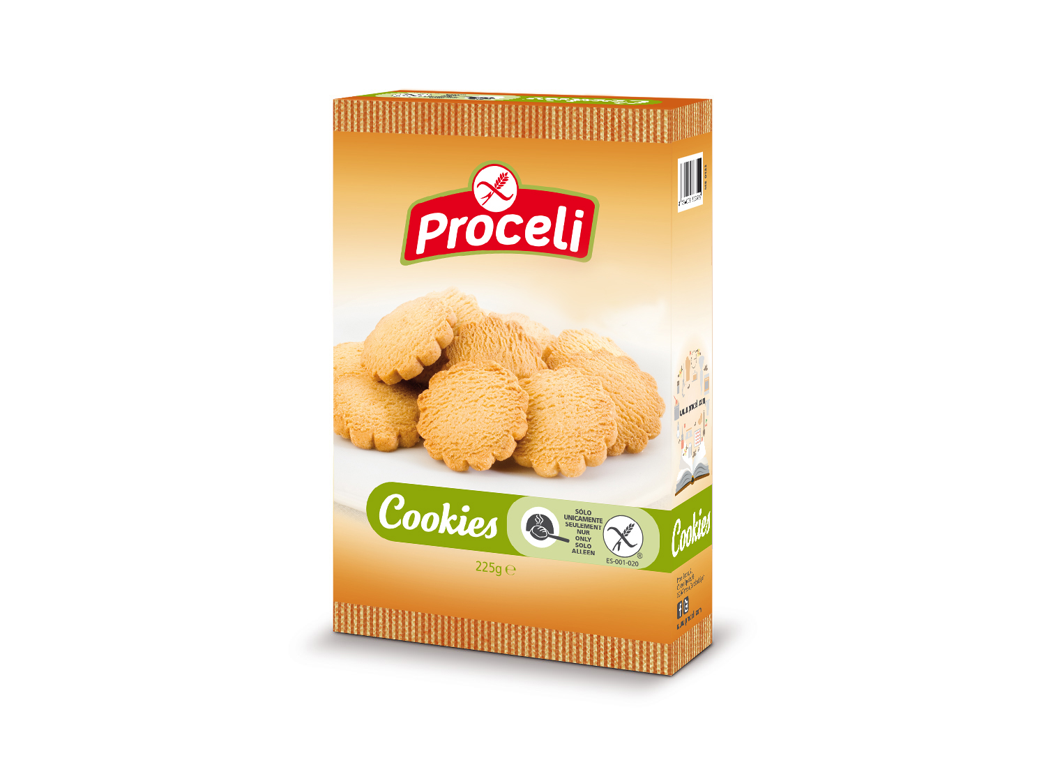 Cookies -gluten-free biscuits from Proceli, with a touch of vanilla
