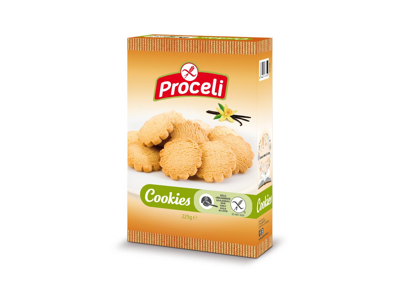 Cookies con regusto a vainilla sin gluten de Proceli