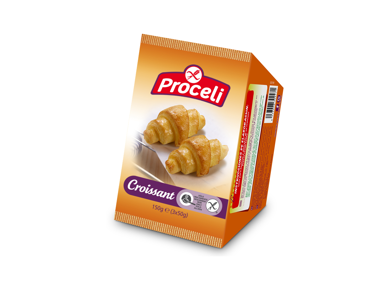 Croissant para hornearlo sin gluten de Proceli