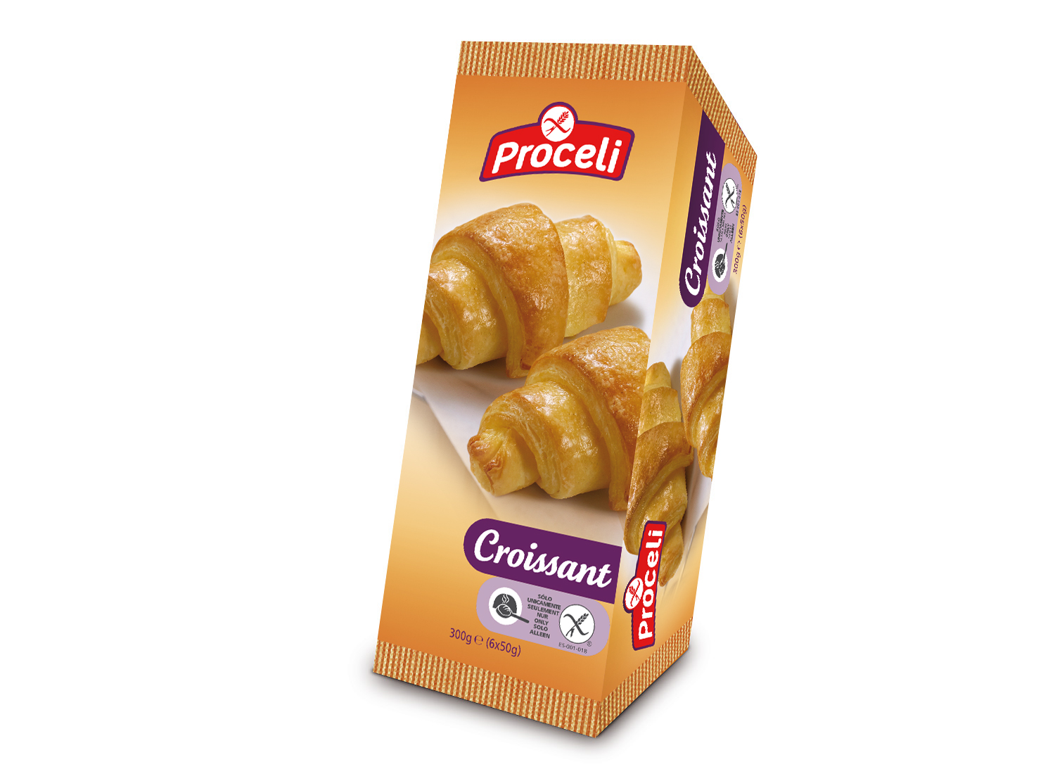 Pack of gluten-free Croissant 300g from Proceli