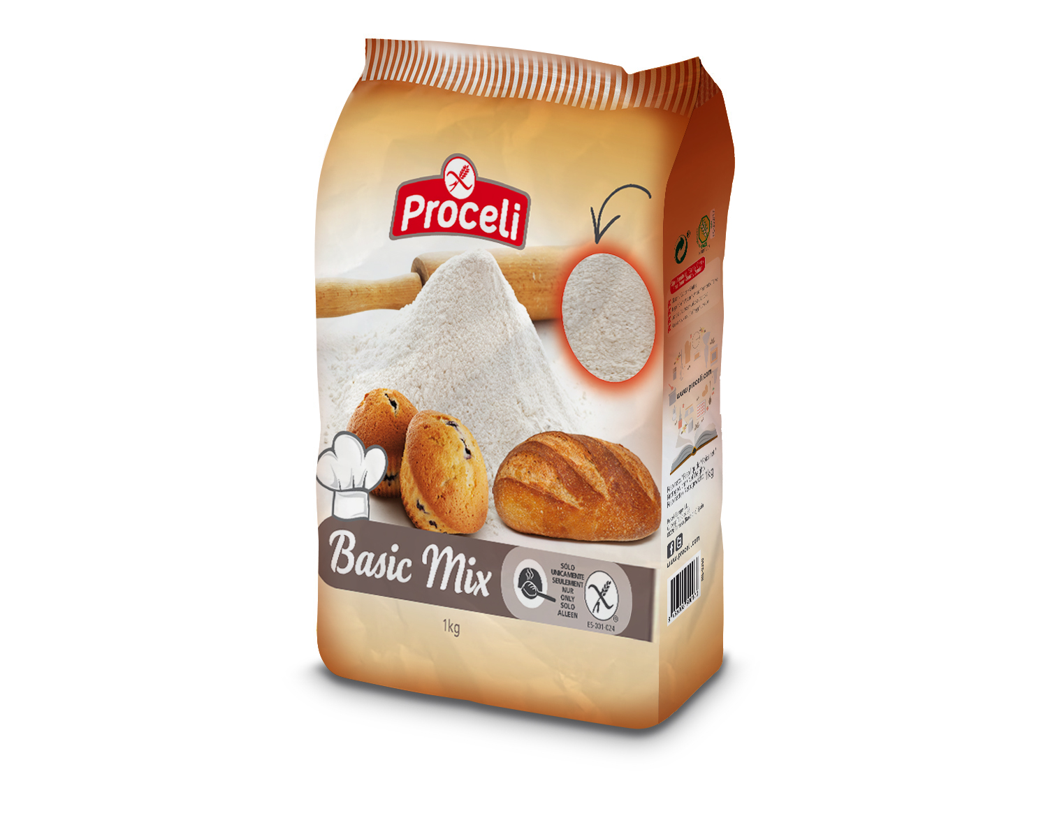 Basic Mix gluten-free from Proceli -pack