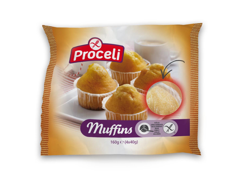 Muffins tiernos sin gluten de Proceli