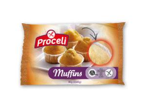 Muffins tiernos sin gluten de Proceli para los mas peques