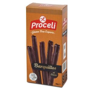 barquillos al cacao sin gluten de Proceli