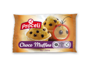Choco muffins tiernos de chocolate sin gluten de Proceli