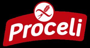 Logotipo naranja sin gluten de Proceli