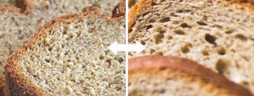 La textura de los alimentos con gluten y sin gluten con Proceli