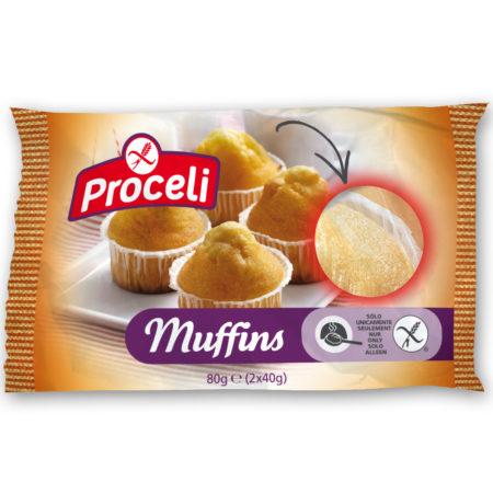 Muffins tiernisimos sin gluten de Proceli