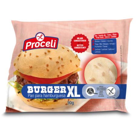 Pan de hamburguesa sin gluten de Proceli con mejor consistencia que antes