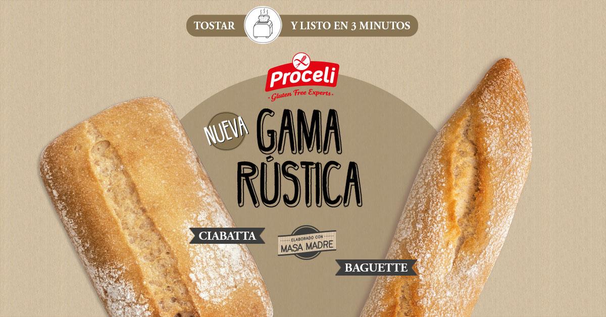 Pan rústico sin gluten con masa madre de Proceli