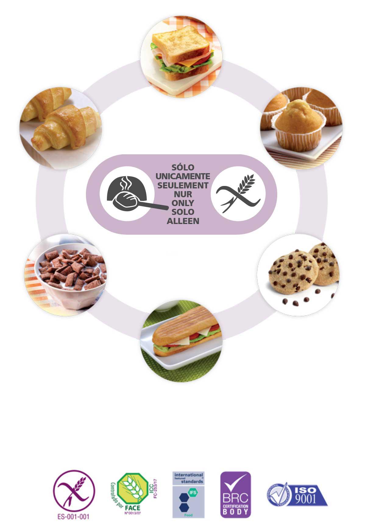 Proceli solo fabricamos sin Gluten