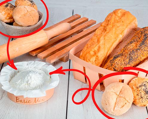 Receta de Panecillos sin gluten hechos con Basic Mix de Proceli
