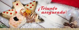 Surtido de canapés navideños sin gluten